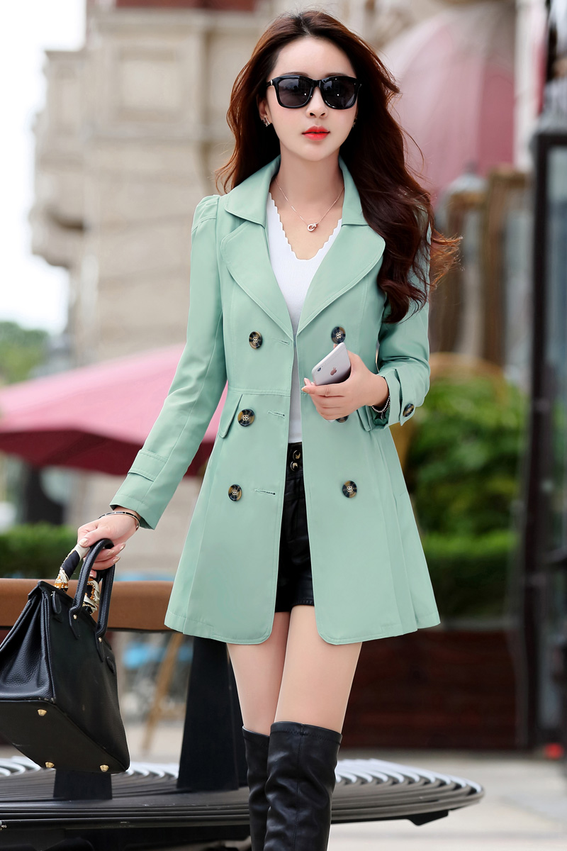 Spring Trench Coat for Women Streetwear Turn down Collar Double Breasted Coats Female Plus Size 3XL 4XL Sobretudo Feminino in Trench from Women 39 s Clothing