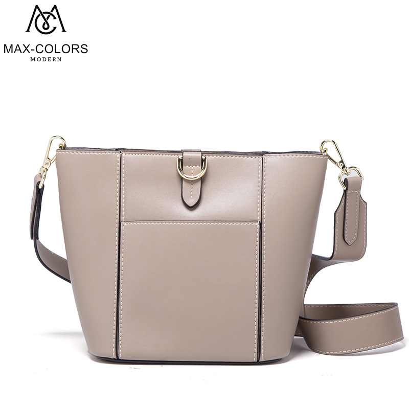 MC Women Bag Cow Leather Bucket Crossbody Bags Lady Shoulder Bag Original Design Handbags Colorful Evening Bags Brand Tote