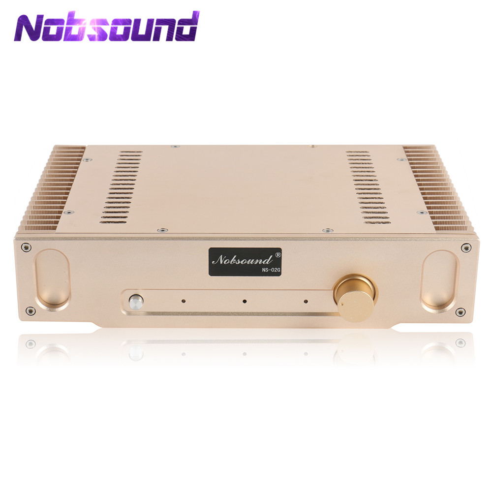Nobsound Hi-end HD1969 Gold Pure Class A Finished 2.0 Channel Amplifier Audio HiFi Power Amplifier 8W*2