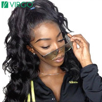 Pre Plucked Lace Frontal Closure Body Wave Virgo Hair Company 100% Remy Human Hair Medium Brown Swiss Lace With Baby Hair