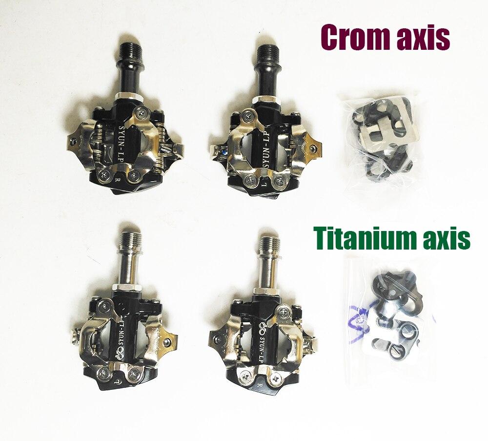 Titane/Crom broche axe VTT ou rayonnages route vélo clipless comme XTRR-M980 vtt SPD pédale