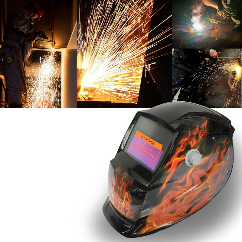Skull Solar Auto Darkening Welding Helmet Square flame Electric Welding Mask/Helmet/welder Cap/Welding Lens for Welding Machine red standard design solar welding helmet auto darkening electric grinding welding face mask welder cap lens cobwebs and skull