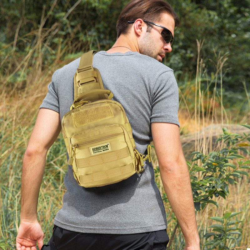 Seibertron Outdoor Tactical Backpack,Military Sport Pack Shoulder Backpack for Camping, Hiking, Trekking,Sling Pack Chest Pack field tactical chest sling pack outdoor sport a4 one single shoulder man big large ride travel backpack bag advanced tactical