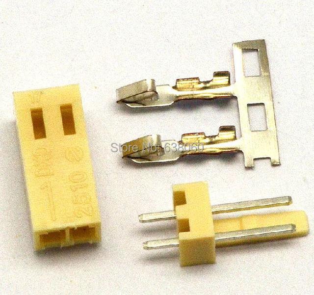 50 satz/los KF2510 KF2510-2 stecker 2,54mm 2pin versandkostenfrei