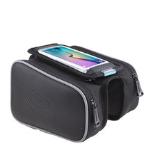 Q1062 Bicycle Bags Riding equipment bike bag Saddle bag touch screen mobile phone bag