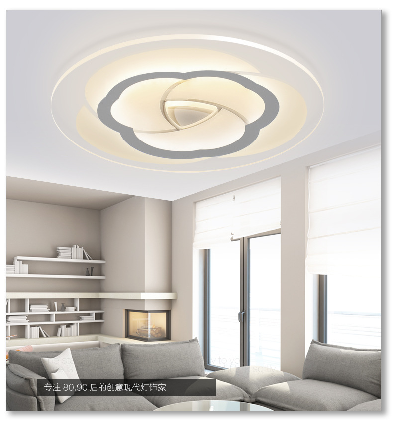Iralan Led Ceiling Light Modern Nature Rose Design Living Room Bedroom Kitchen Dining Room Lighting Fixture Icfw1909 Ceiling Lights & Fans