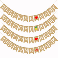 Добро пожаловать детские домашние баннеры с днем рождения украшения Diy буквы льняные тянуть флаги сердце ананас солнце украшения