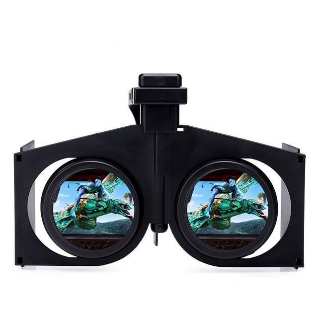 db0d9e4d842333 3D Plastic Kartonnen VR Vouw Bril Draagbare VR Glazen Opvouwbare Ultralight  Dunne Sluiter Virtual Reality Bril