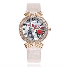 0c5e30e487b4 Reloj de las mujeres París Torre Eiffel Faux bandas correa de cuero cuarzo  analógico reloj drop Ship diamante relojes para las m.