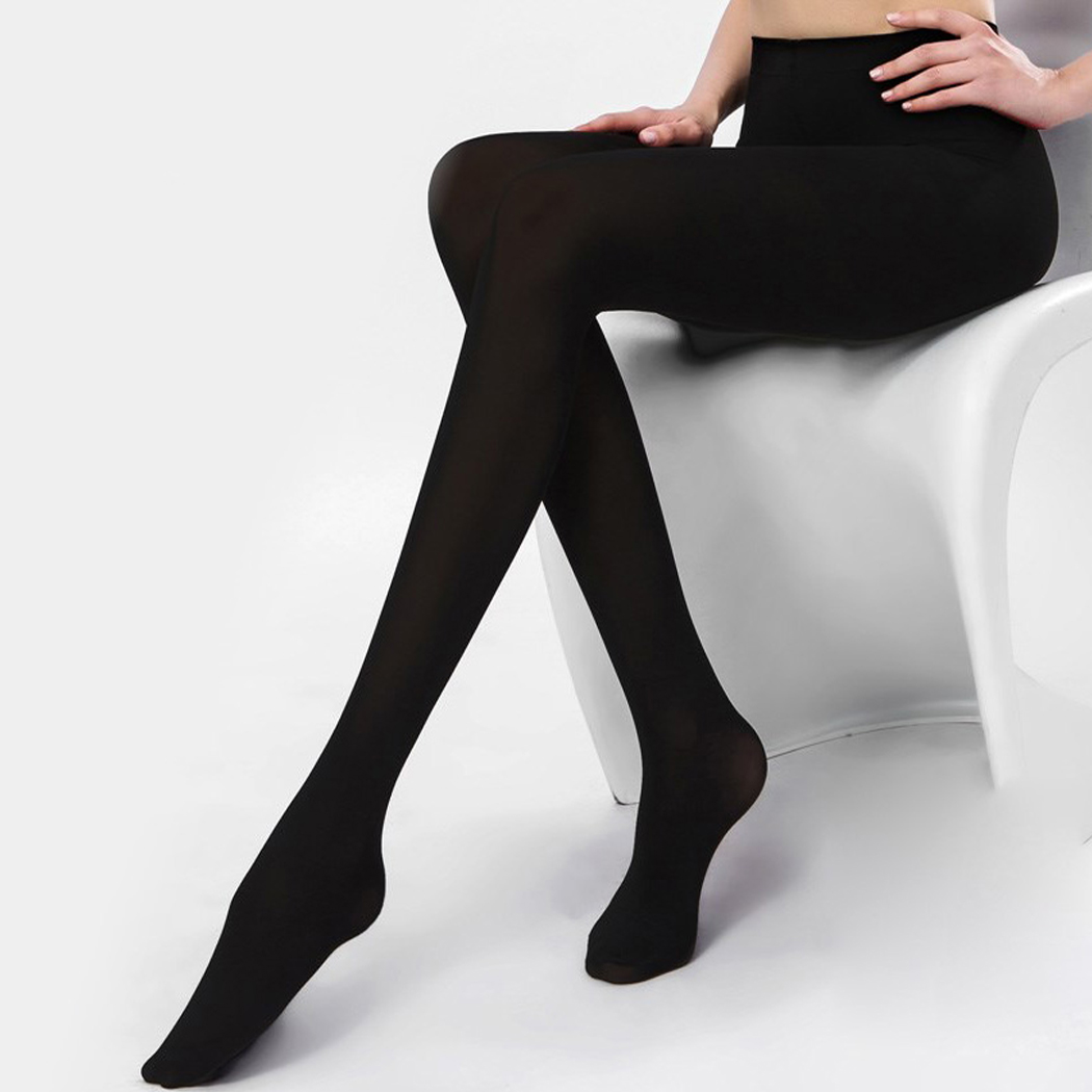 2018 Super Elastic Velvet Tights Pantyhose Women Winter Spring Thick Warm Nylons Stockings Collant Sexy Lady Slim Footed Tights