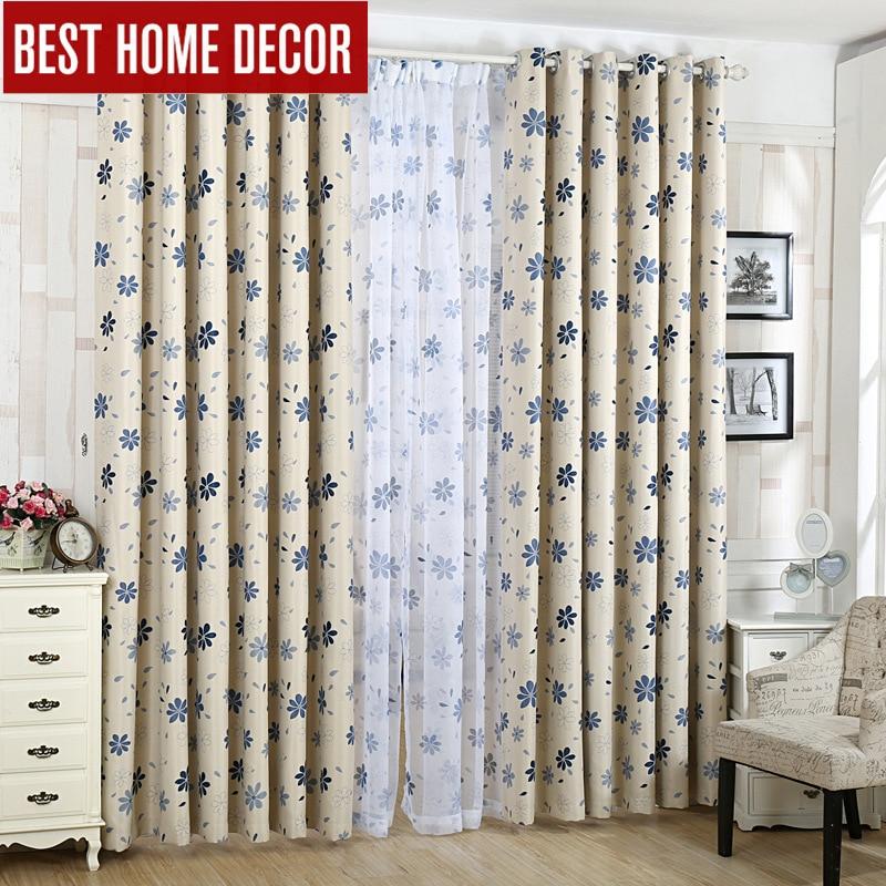 Pastoralne zavjese + platnene zavjese za zavjese za zastore prozora - Tekstil za kućanstvo