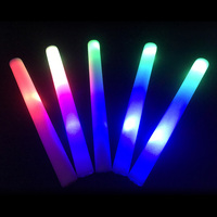 100pcs Glow Sticks LED Light Stick for Wedding Colorful 3 Styles Flashing Birthday Foam Stick Glow Stick LED Glow Party Supplies