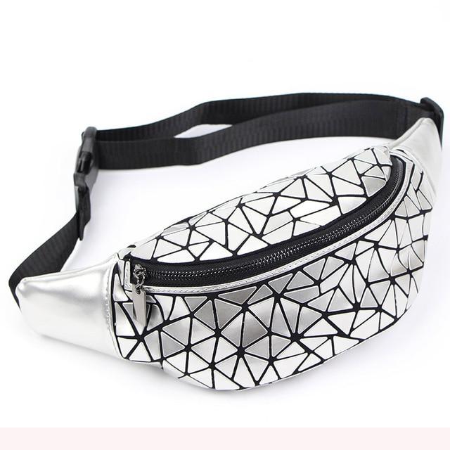 New Waist Bags Fanny Pack For Women Belt Bag Geometry Sequin Fanny Pack Female Luminous Waist Packs Chest Bag sac banane femme