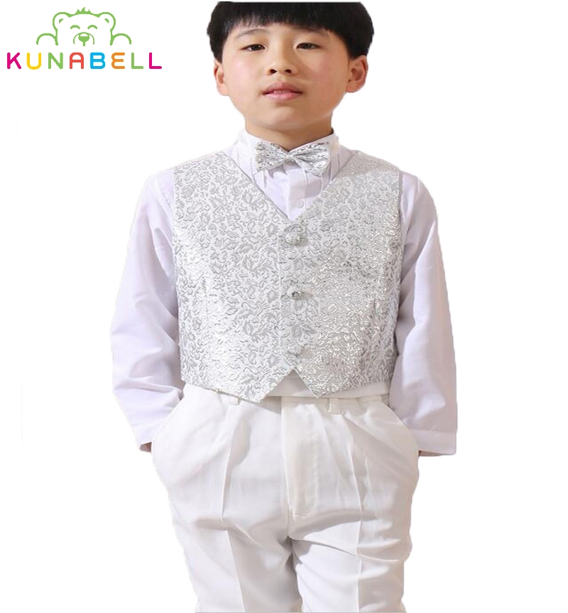 2017 Baby Boys kids Blazers Formal Suit Weddings Prom Birthday Dress Party White Flower Boy Waistcoat Ceremonial Suits Set F29 high quality school uniform new fashion baby boys kids blazers boy suit for weddings prom formal gray dress wedding boy suits