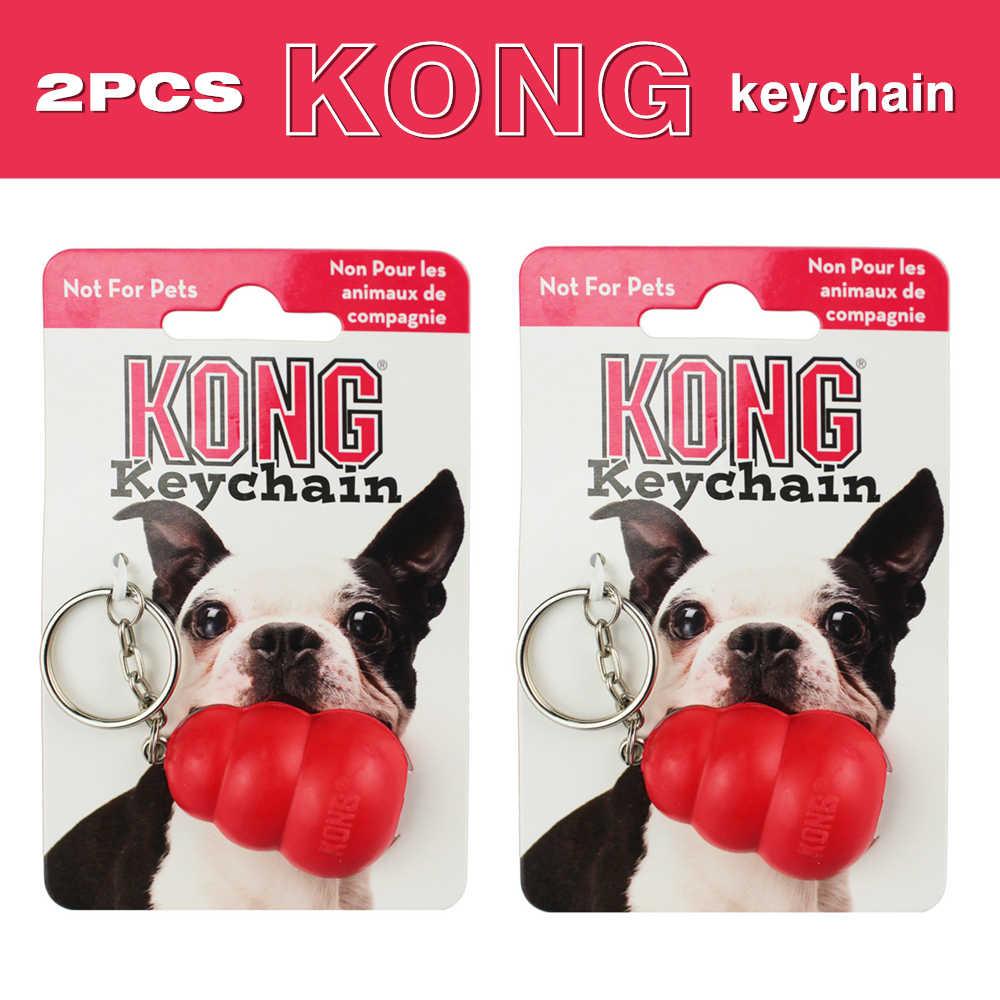 2PCS Classic KONG Portachiavi In Gomma Naturale (Non Per Gli Animali Domestici)