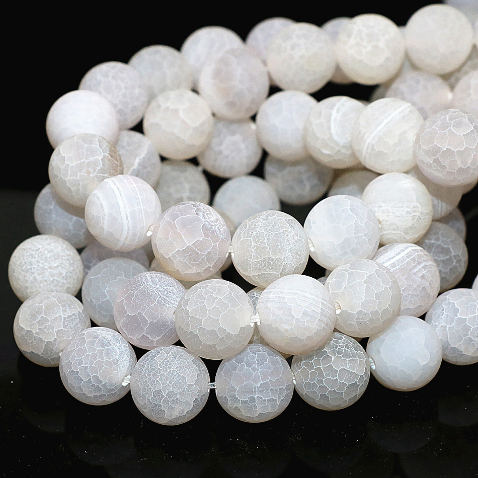 White Natural Stone : Natural stone white round frosted matte weathered onyx