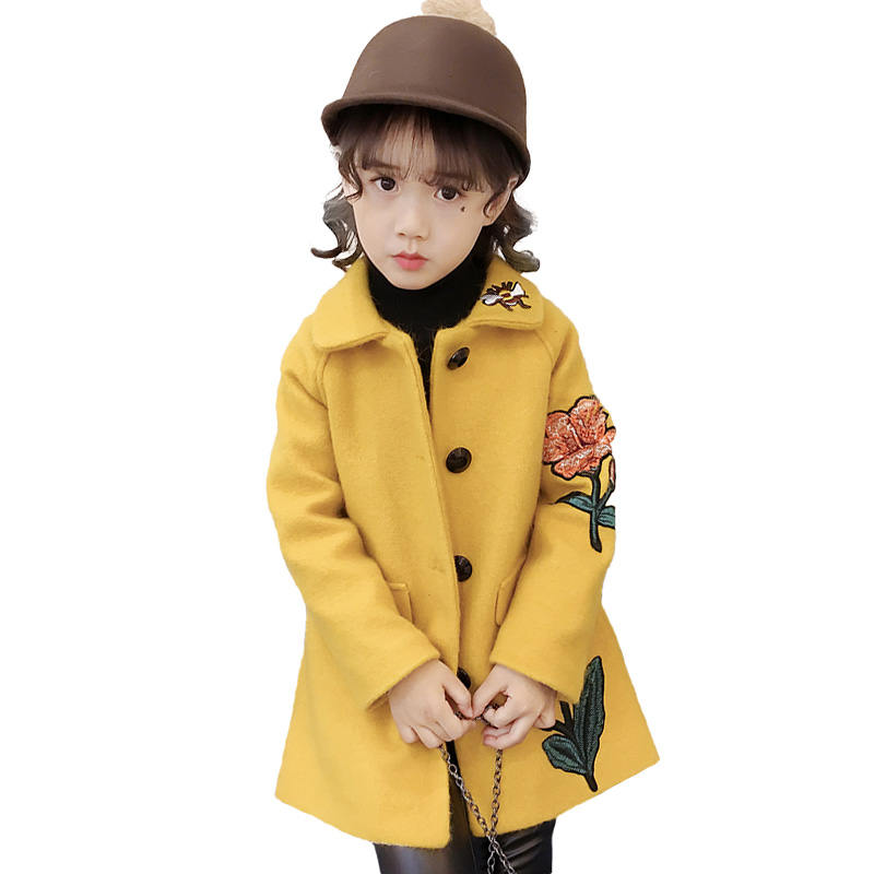 Girls woollen coat autumn and winter 2017 new baby boy han version of the princess extra thick winterGirls woollen coat autumn and winter 2017 new baby boy han version of the princess extra thick winter