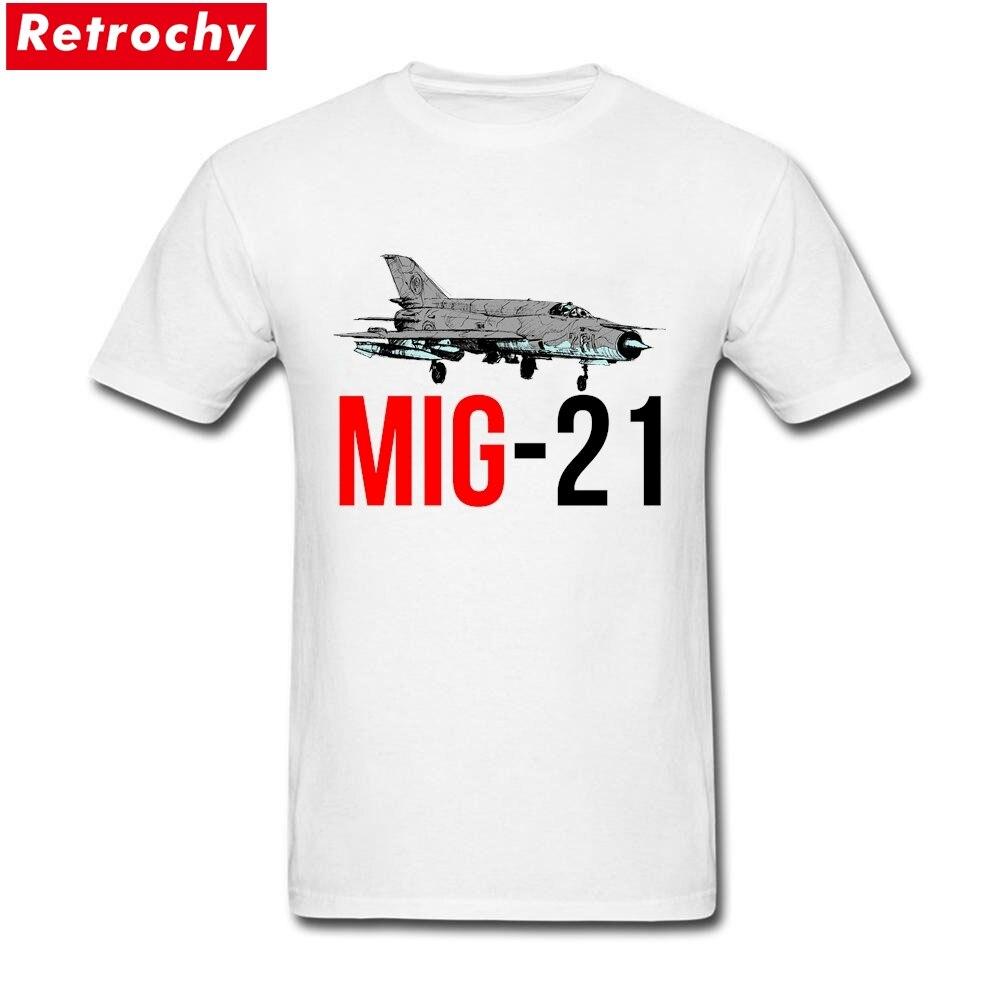 MiG-21 Jet Fighter Merchandise T-Shirt Short Sleeved Mens Cotton Big Size T Shirt