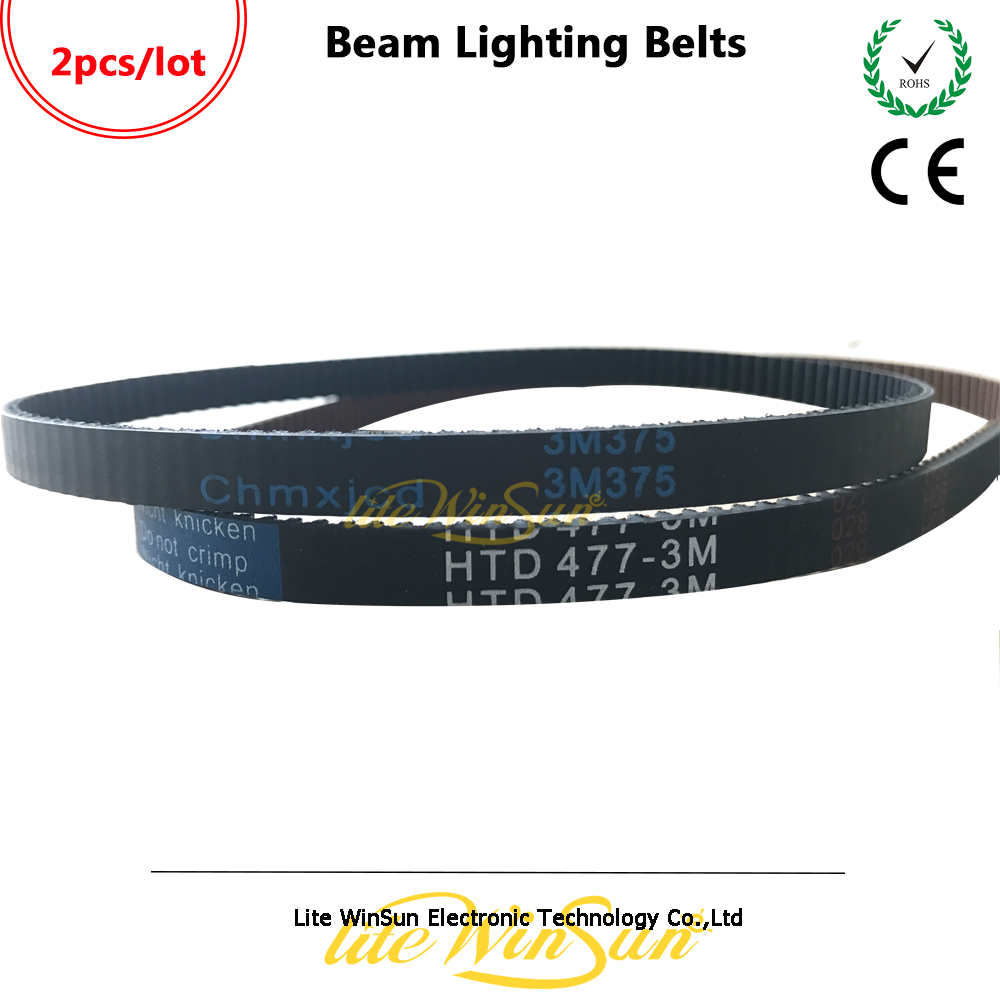 Litewinsune Beam Lighting Belts 375-3M HTD 477-3M Pan Tilt Belts For Beam 7R Beam 5R Stage Lighting