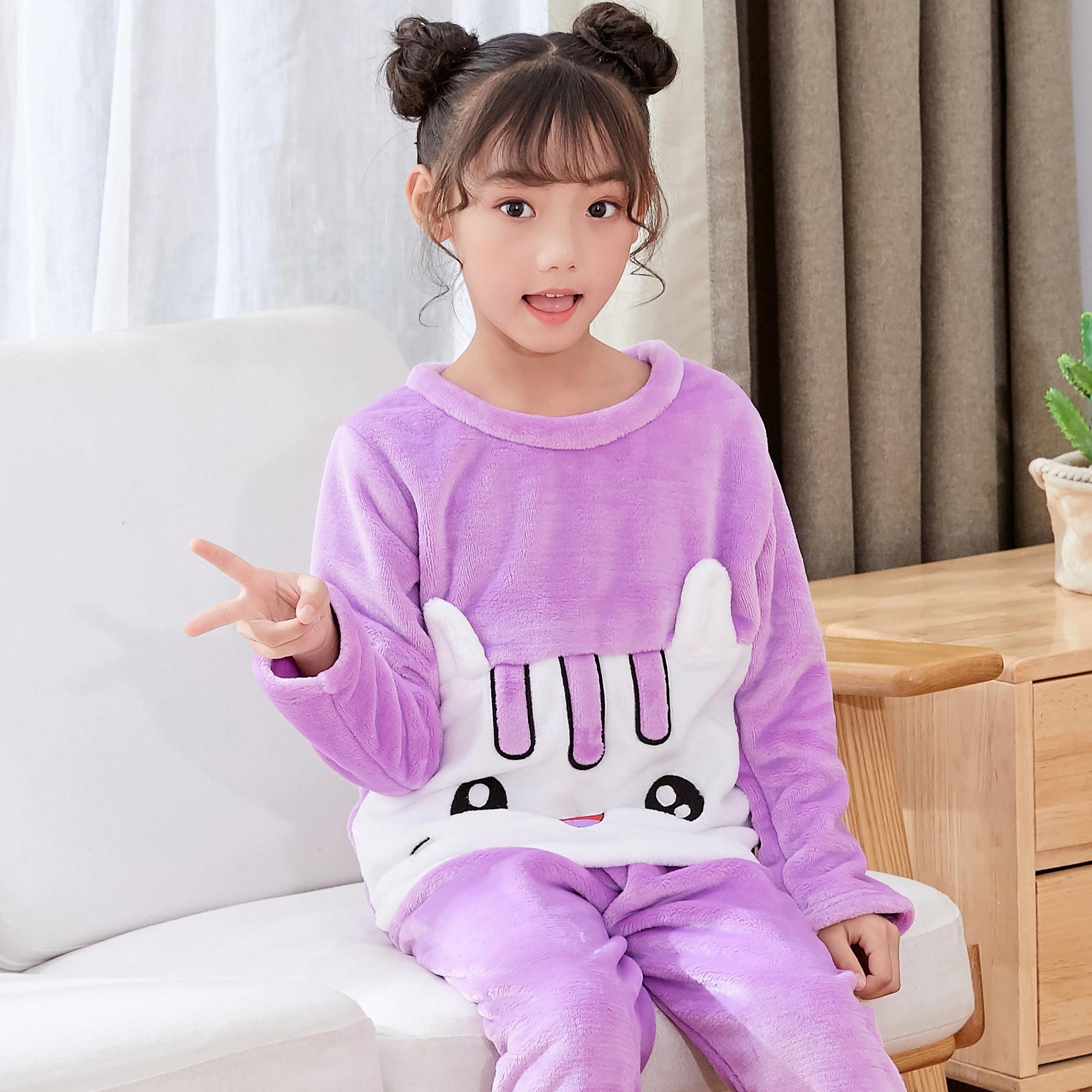 a0cae87162de Detail Feedback Questions about Specially Autumn Winter Girl Flannel Pajamas  Warm Sleepwear Girls Loungewear Coral Fleece Kids Pijamas Cute Flannel ...