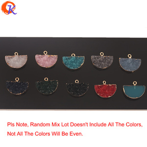 Image 2 - Cordial Design 50Pcs 18*23MM Jewelry Accessories/Resin Charms/Semicircle Shape/DIY Earrings Making/Hand Made/Earring Findings