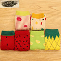 Spring and Autumn Winter Women's Thicken Cotton Sock Cartoon High Quality Fruit Sweet Woman Socks for Girl / Female / Ladies