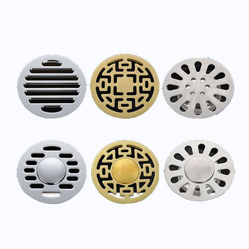 Stainless Steel Shower Floor Drain Bath Bathroom Plug Plumbing Trap Hair Catcher Strainer Bath
