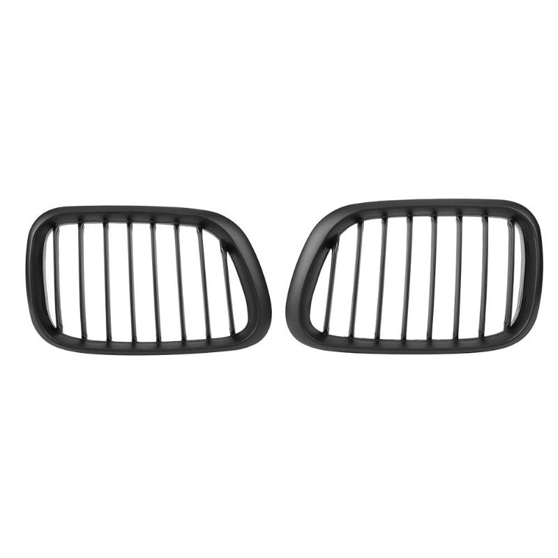 VODOOL 1 Pair Gloss Black Front Hood Kidney Grille for BMW E36 318i 320i 323i 325i 328i 1997-1999 Exterior Racing Grills Parts