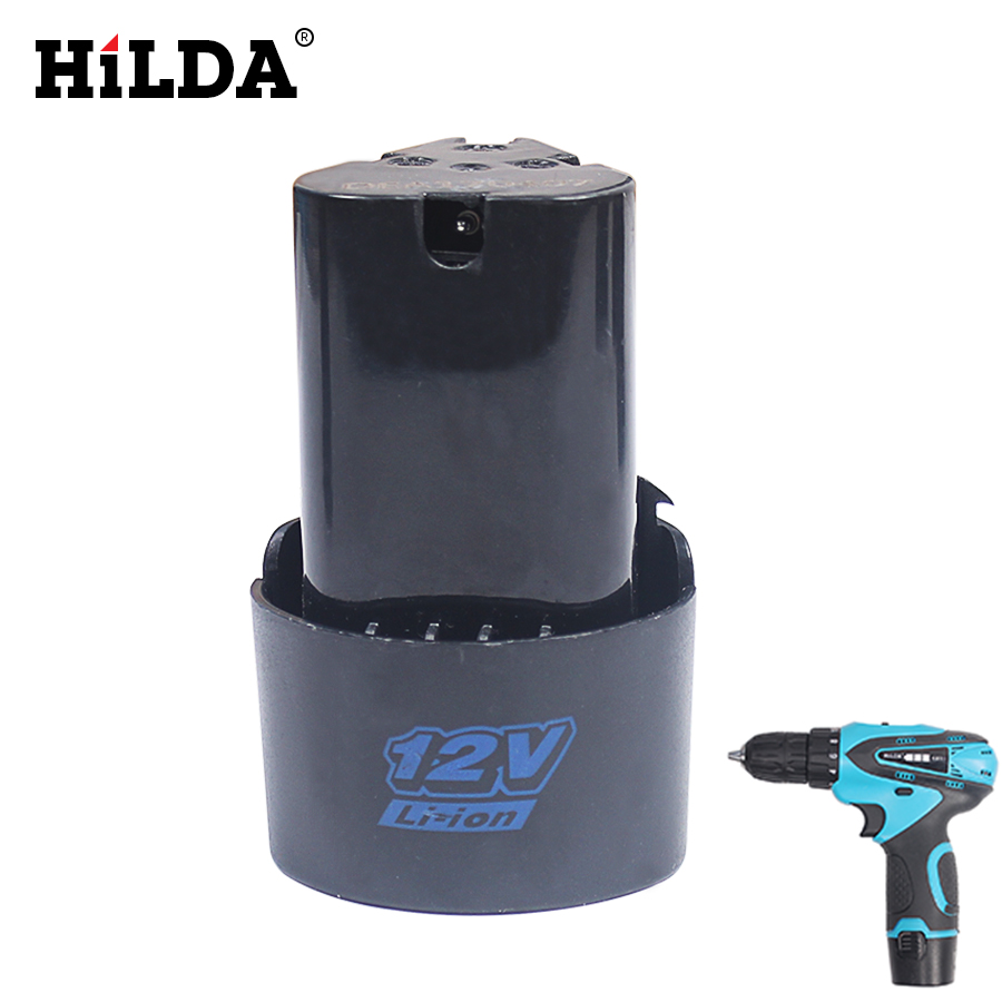 HILDA 12V Cordless Electric Drill Battery Rechargeable Lithium Battery For Power Tools Accessories 24v 3000mah 3 0ah rechargeable battery pack power tools batteries cordless drill ni mh battery for makita bh2430 bh2433