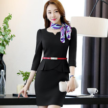 Formal half sleeve slim women's one-piece dress