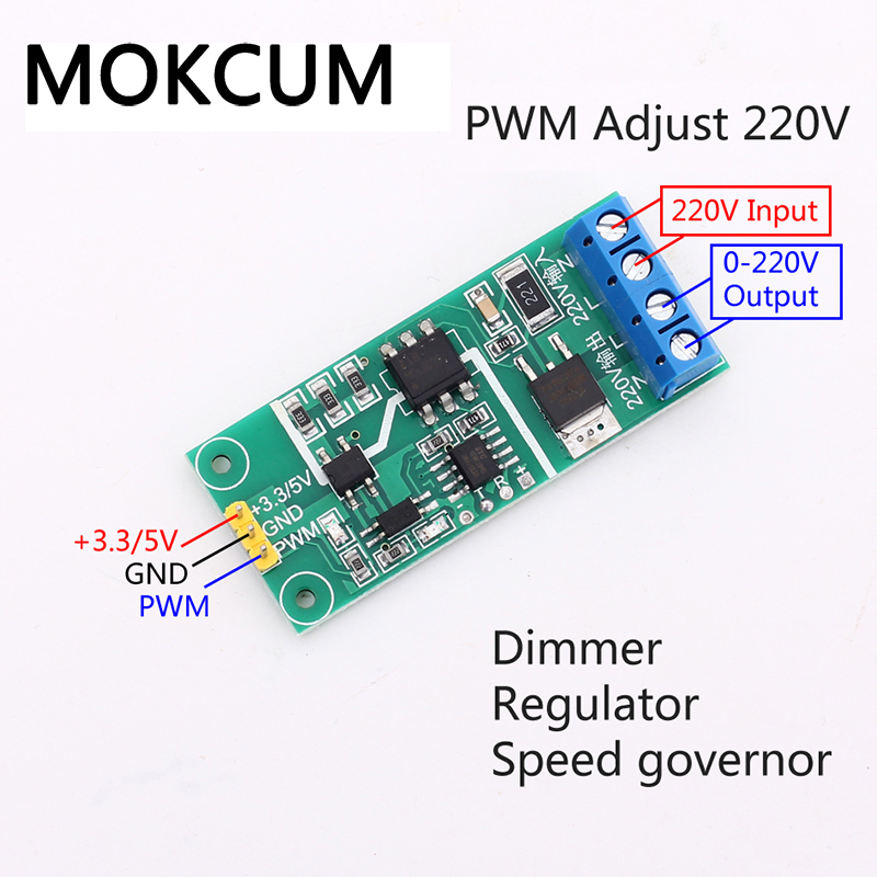 AC 220V PWM Controller Thyristor Isolation Module Dimming Governor Voltgae 1Hz~500Hz Regulator Motor Speed Regulation Module