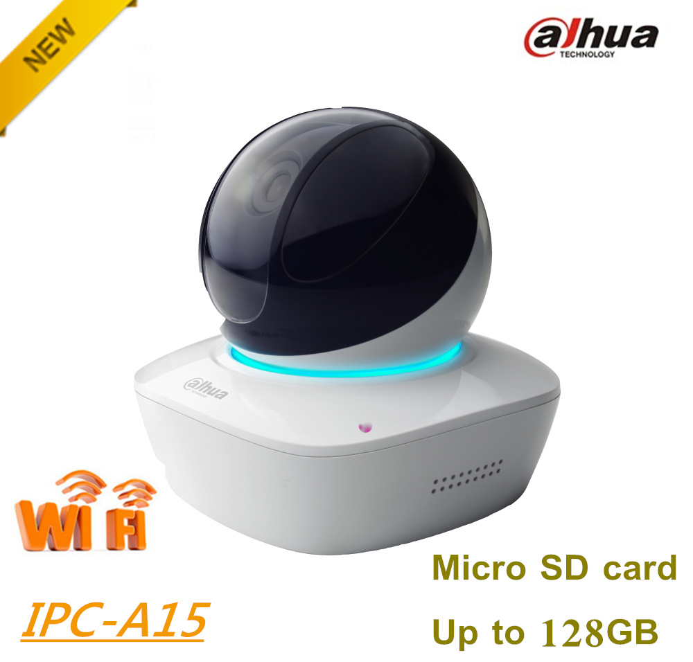 все цены на Dahua 1.3MP Wi-Fi PT Camera IPC-A15 Wireless Network Camera Easy4ip cloud support Sd card up to 128G Built-in Mic & Speaker онлайн