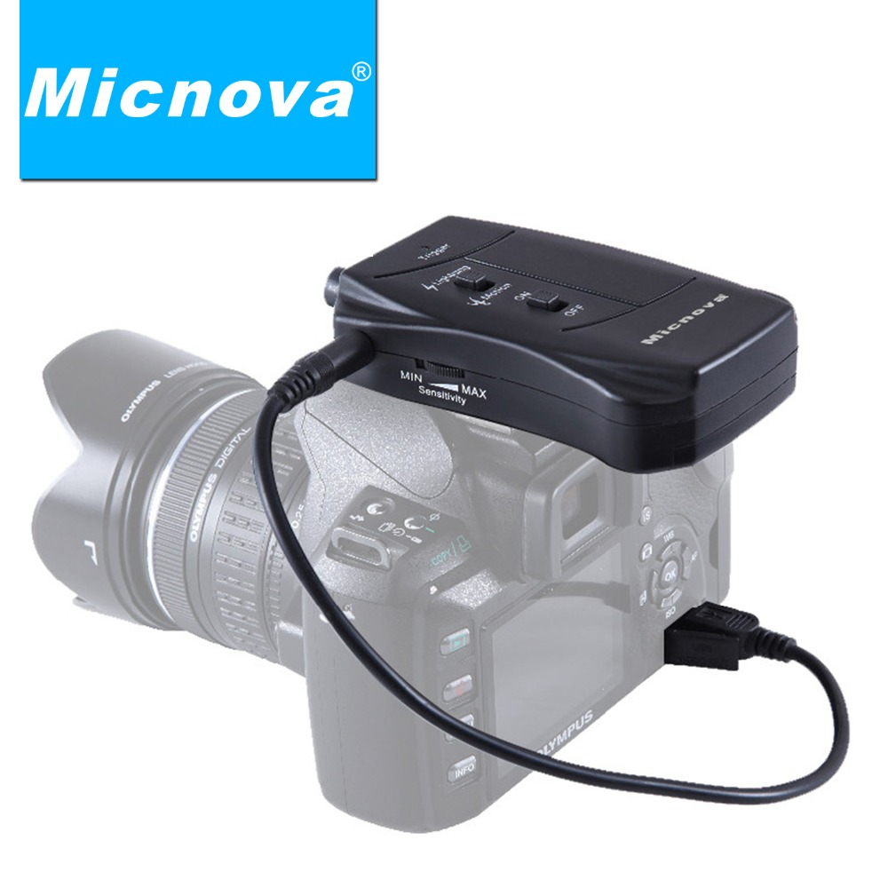 Electronic 2017 Micnova Pro Lightning & Motion Activated Camera Shutter Trigger LC03O for Olympus E-410 E-510 E-520 Camera olympus sp 510 с сумкой