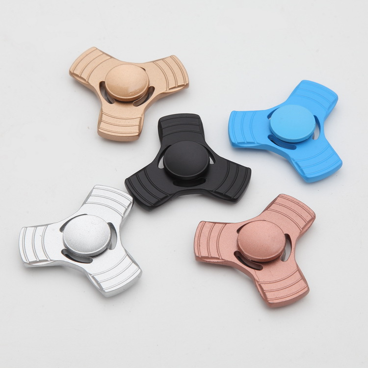 EDC Tri Spinner Hand Spinner Aluminum Alloy Puzzle Adults Kid Toy For Fidget Autism ADHD Anxiety