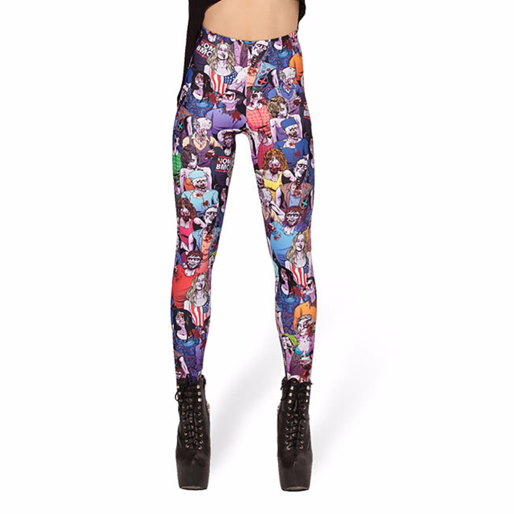 3D Funny Printed DanceHall zombies feet legging Women Fashion leggings Leggins pencil pants Sexy Slim Cloth Plus size Stretch