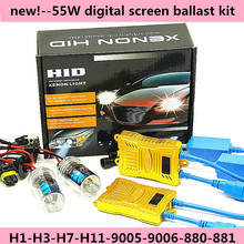 new 1 set fast bright 55w digital ballast xenon HID headlight 6000K 8000K 10000K 9005 9006