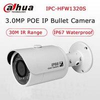 Dahua IPC HFW1320S 3MP P2P Bullet POE Camera 30M Night Vision IP66 Waterproof Network IP Camera
