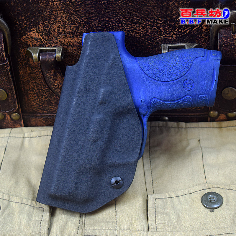 US $28 0  B B F MAKE kydex board Right/Left pistol Waist hanging holster  Kydex sheath Holster for smith wesson M&P 9 Shield -in Waist Packs from