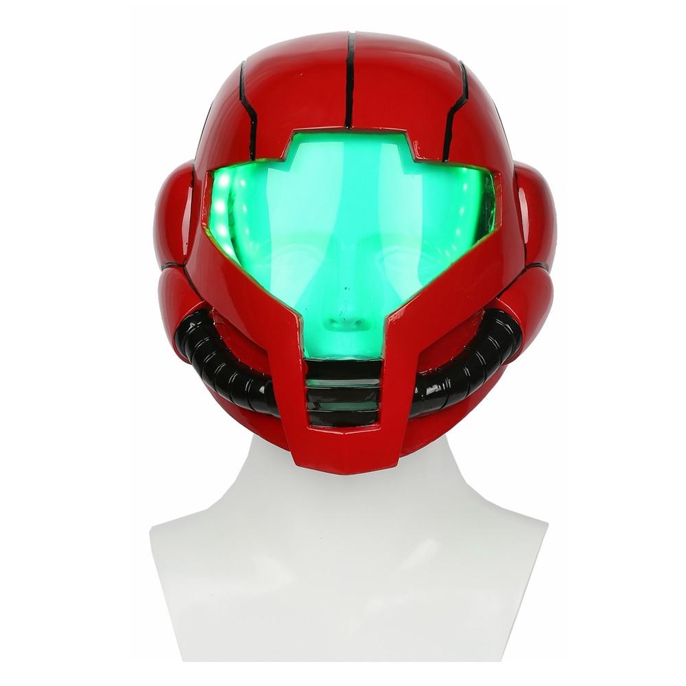 Здесь продается  Coslive Metroid Samus Aran Cosplay Helmet Costume Mask with LED Light for Halloween Carnival Show  Одежда и аксессуары