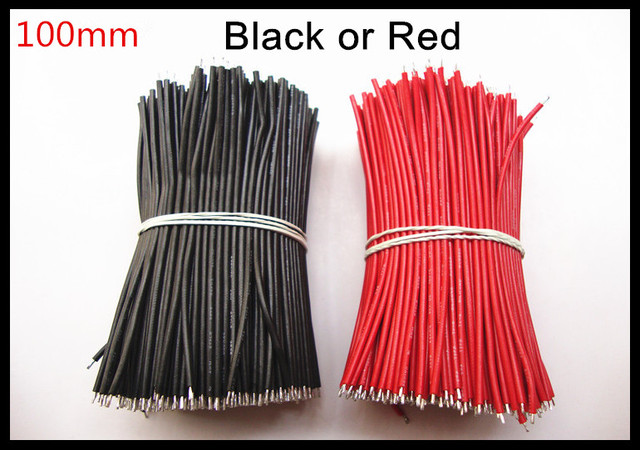 1000 teile/los länge: 100mm UL1007 AWG20 # stecker draht kabel Rot ...