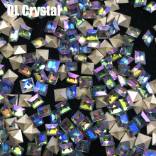 QL Crystal Square Pointback Glass Rhinestones  Nail crystal for making jewelry and 3D