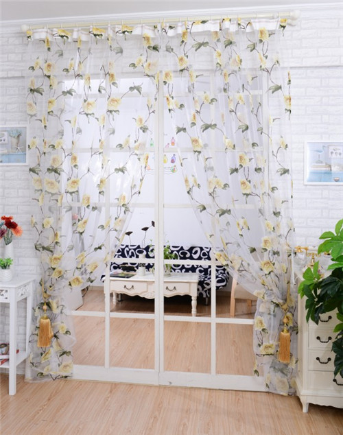 New Modern window screening tulle noble luxury curtains for the bedroom living room design sheer voile curtain