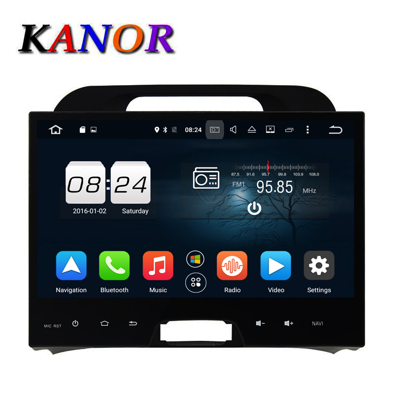 KANOR Android 6 0 car gps navigator for KIA Sportage 2010 2011 2012 2013 car pc