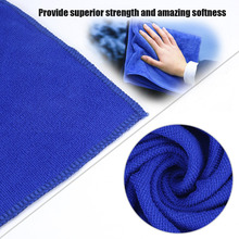UniversalCar Accessorie  1pc 30*70CM Blue Microfiber Car Cleaning Cloth Wash Hand Towel Products Dust Tools Car Washer Supplies