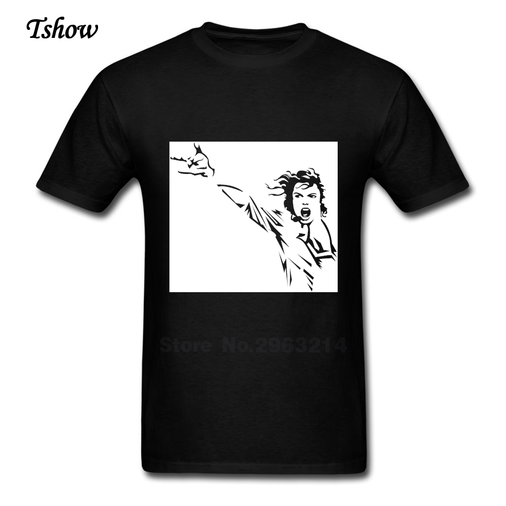 Black t shirt michaels - Michael Jackson T Shirt Man King Of Pop Summer Print Pure Cotton Short Sleeve Man S Costume Crew Neck New Tee Shirt Boys Tee