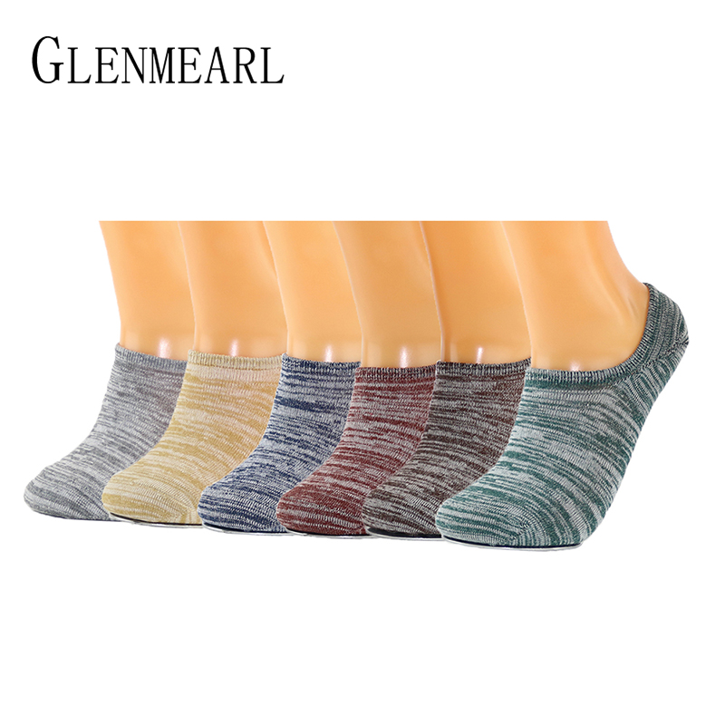 Combed Cotton Invisible Men   Socks   New Fahion skid Low Cut Soft Breathable Colorful Spring Summer Brand Boat   Socks   For Mens