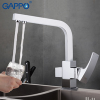 GAPPO 1set Kitchen Sink Faucet Waterfall Torneira Multi Function Cold Hot Water Purification Function Mixer Solid