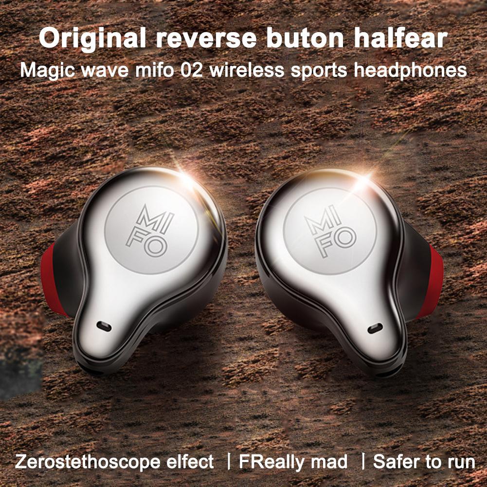 Mifo Magic Wave O2 sans fil Bluetooth écouteurs double in-ear TWS Sport exécutant des écouteurs imperméables avec boîte de charge universelle