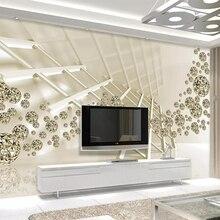 Beibehang Mural wallpaper creative three-dimensional space golden ball 3d