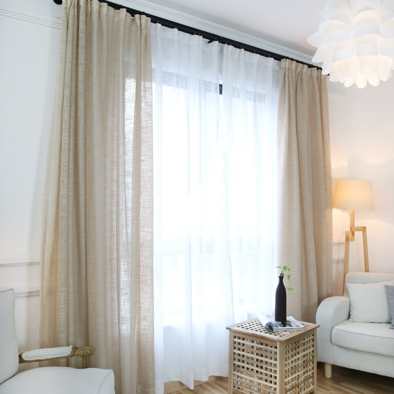 Minimalist Modern Solid Color Tulle White Curtain Screens ...